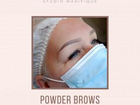Browstyling Powder Brows Browmapping Studio Marifique voor en na permanente makeup